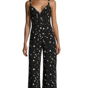 Lucca couture star tie back jumpsuit S black